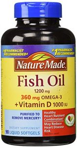 Nature Made Fish Oil 1,200 Mg + Vit D 1,000 Iu Softgels, 90 Ct