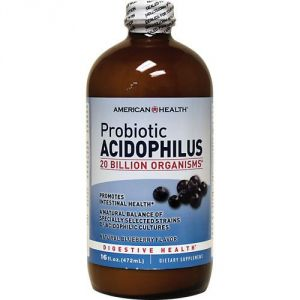 American Health Products - Acidophilus Culture Blueberry, 16 Fl Oz Liquid