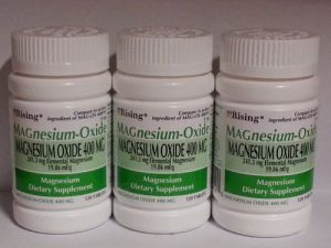 Magnesium Oxide 400 Mg Dietary Supplement Tablets - 120 Tablets (pack Of 3)