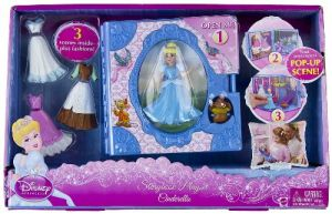 Cinderella Storybook + Mini-figures Playset Disney Princess