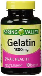 Spring Valley,gelatin 1300mg(nail Health),dietary Supplement 100 Capsules