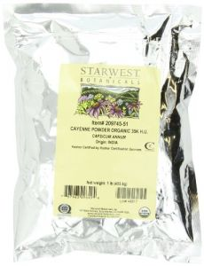 Starwest Botanicals Organic Cayenne Pepper Powder 35k H.u., 1-pound Bag