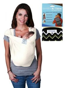 Baby Ktan Bundle - 2 Items Baby Carrier - Medium Natural Organic And Ktan Cloth Zig Zag