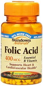 Sundown Folic Acid 400mcg 350 Tablets