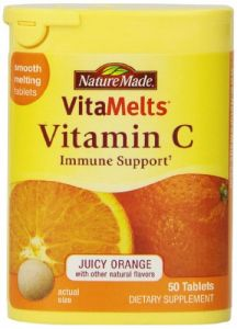 Nature Made Vitamelts Vitamin C Smooth Dissolve Tablets, 60 Mg, 50 Count