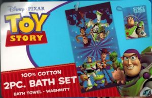 Toy Story 2 PC Bath Set Disney Pixar Bath Towel Wash Mitt