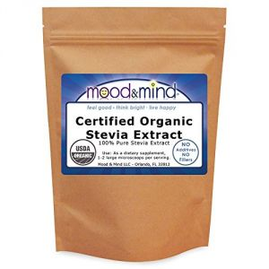 Organic Stevia Extract Powder (100% Pure, No Fillers, No Aftertaste) 4 Oz. (112g)