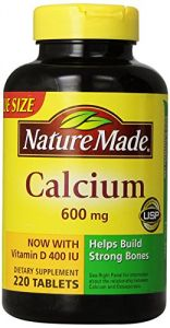 Nature Made Calcium 600 Mg, With Vitamin D3, Value Size, 220-count