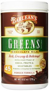 "Barlean""s Organic Oils Greens, Chocolate Silk, 9.52 Ounce"