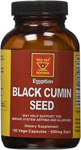 African Red Tea Organic Kosher Black Cumin Seed (500mg), 100-count Vege-capsules