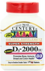 21st Century D 2000 Iu Tablets, 110-count