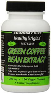Green Coffee Bean Extract- 120 Veggie Capsules, 200 Mg, Green Coffee Extract, (contains 50% Chlorogenic Acid) , Value Size