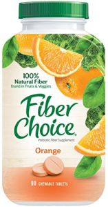 Fiber Choice Chewable Tablets, Orange Flavor, 90 Count