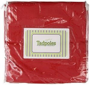 Tadpoles Basic 2 Piece Curtain Panels Set, Solid Red, 84