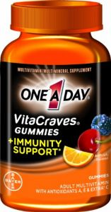 One-a-day Vitacraves Gummies Plus Immunity Support, 100-count