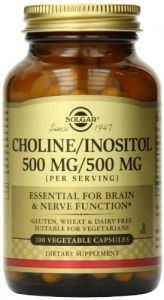 Solgar Choline/inositol Vegetable Capsules, 500 Mg, 100 Count
