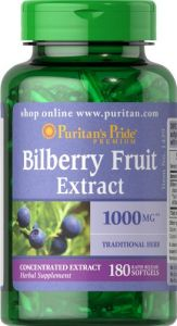 "Puritan""s Pride Bilberry 1000 Mg-180 Softgels"