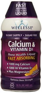 Wellesse Calcium & Vitamin D3, 1000mg, Natural Citrus Flavor, 16-ounce Bottles (pack Of 2)