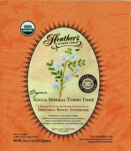 "Heather""s Tummy Fiber Pouch Organic Acacia Senegal (16 Oz) For Ibs"
