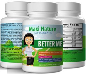 Maxi Nature Supplements Better Me Positive Mood Formula And Anxiety Stress Relief Supplement (60 Capsules)