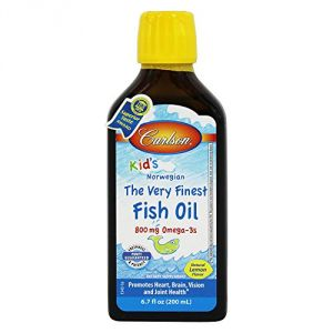 Carlson Laboratories - Kids Very Finest Fish Oil Lemon, 6.7 Fl Oz Liquid