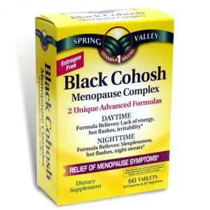 Spring Valley - Black Cohosh Menopause Complex, 60 Tablets, Daytime And Nighttime Advanced Formula