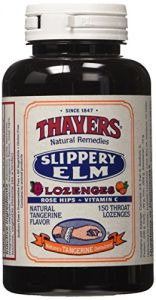 Thayers Slippery Elm Lozenges, Tangerine, 150 Count