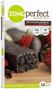 Zone Perfect All Natural Dark Chocolate Nutrition Bars Dark Chocolate Strawberry -- 12 Bars