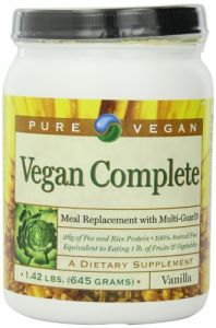 Pure Vegan Vegan Completetm Meal Replace Dietary Supplement, Vanilla, 1.42 Pound
