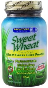 Sweet Wheat- Organic Wheat Grass Juice Powder, 60 Capsules. Raw, Non Gmo, Gluten Free, Vegan. By Brightcore Nutrition