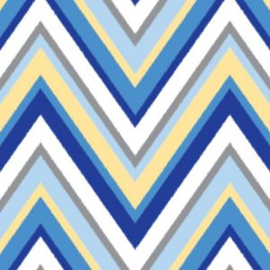 Caden Lane Ikat Collection Changing Pad Cover, Chevron Blue