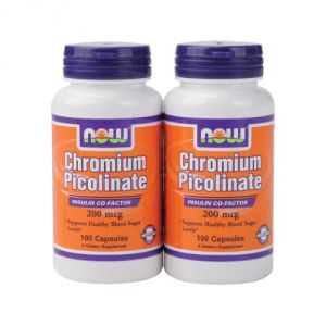 Now Foods Chromium Picolinate, 200 Mcg , 200 Capsules
