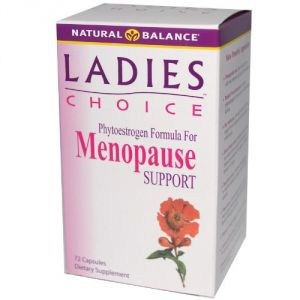 Natural Balance Ladies Choice Capsules, Menopause Support, 72-count