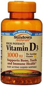 Sundown Naturals D 1000 Iu Softgels, 400 Count