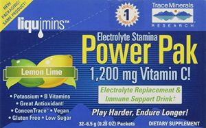 Trace Minerals Research Espp02 - Liquimins Electrolyte Stamina Power Pak, 32 Packets (lemon Lime) (pack Of 2)