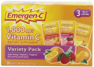 Emergen-c, Variety Pack, 1,000mg, .03 Oz, 30 Count