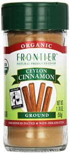 Frontier Natural Products Cinnamon, Og, Grnd Ceyln, Ft, 1.76-ounce