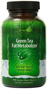 Irwin Naturals Green Tea Fat Metabolizer Dietary Supplement Liquid Gel Caps, 75-count Bottles (pack Of 2)
