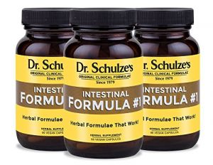 "Dr. Schulze""s Intestinal Formula #1 Colon Bowel Cleanse 90 Capsule Bottles (3 Pack)"