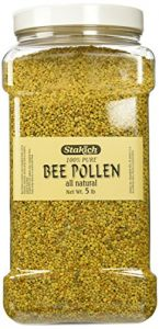 Stakich Bee Pollen Granules 5 Lb - 100% Pure, Natural, Unprocessed -