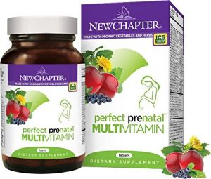 New Chapter Perfect Prenatal Multivitamin, With Folic Acid- 96 Ct (1 Month Supply)