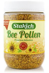 Stakich Bee Pollen Granules 1 Lb - 100% Pure, Natural, Unprocessed -
