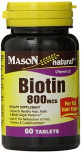 Mason Vitamins Biotin 800 Mcg Tablets, 60 Count Bottle (pack Of 3)
