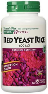 "Herbal Actives Red Yeast Rice Nature""s Plus 600mg 120 Caps"