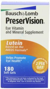 Bausch & Lomb Health Supplements - Bausch & Lomb Preservision Eye Vitamin and Mineral Supplement with Lutein - 180 Softgels
