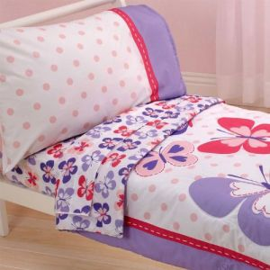 Carters 4 Piece Toddler Bed Set, Butterfly