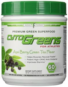 Nova Forme Cytogreens For Athletes Acai Berry Green Tea -- 18.9 Oz