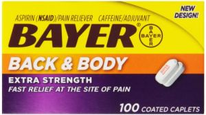 Bayer Health & Fitness - Bayer Extra Strength Caplets, Back and Body 500 mg, 100 count