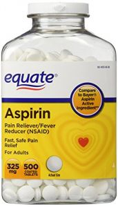 Equate - Aspirin 325 Mg, Original Strength, 500 Coated Tablets, Pain Reliever (compare To Bayer)