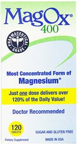Magox 400 Magnesium Supplement Tablets, 482.6 Mg, 120-count Bottles (pack Of 2)
